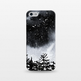 iPhone 5/5E/5s  Lost by  (trees,nature,forest,sky,night,stars,black)