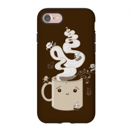 iPhone 8/7 StrongFit Extreme Coffee Sports by Wotto (coffee,caffiene,coffee lover,mug,java,monday, cute,extreme sports,surfing,skateboarding, sugar cube,splash,cup,fun, kawaii, wotto)