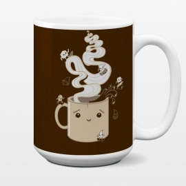 15 oz Standard Mug Extreme Coffee Sports by Wotto (coffee,caffiene,coffee lover,mug,java,monday, cute,extreme sports,surfing,skateboarding, sugar cube,splash,cup,fun, kawaii, wotto)