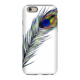 iPhone 6/6s StrongFit The Peacock's Feather by Elizabeth Mazur (peacock,feather,animal,nature,wildlife,bird)