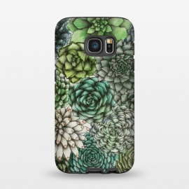 Galaxy S7  An Assortment of Succulents by Elizabeth Mazur