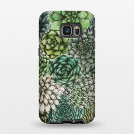 Galaxy S7 EDGE  An Assortment of Succulents by Elizabeth Mazur