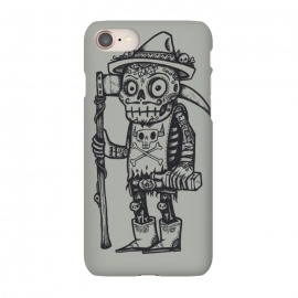 iPhone 7 SlimFit Death Awaits by Wotto (Day of the dead, skull,skull man,skull head,mexican art,Mexican, Mexico,sugar skull,calavera,Dia de los Muertos,Día de Muertos,Calavera, Calaveras,aztec,drink, alcohol, booze,death, dark, dark arts, detailed,illustration,wotto,diablo,devil, darkness,syth,tattooed,tattoo,tattoos,cowboy boots,skeleton)