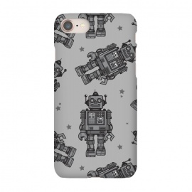 iPhone 7 SlimFit A Vintage Robot Friend Pattern  by Wotto (robot,toy,robots, robot pattern,robot art,vector,tin toys, vintage toys,beep bop,pattern,space, future,science,robotic,cute, fun, nostalgia ,wotto)