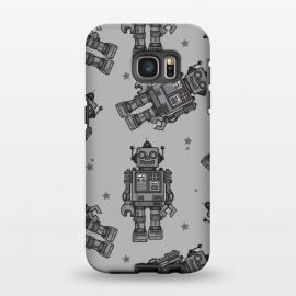 Galaxy S7 EDGE  A Vintage Robot Friend Pattern  by Wotto