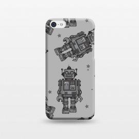 iPhone 5C  A Vintage Robot Friend Pattern  by Wotto