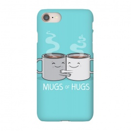 iPhone 7 SlimFit Mugs of Hugs by Wotto (mugs, coffee, java,caffeine, coffee lover, positive,fun, funny, cute, coffee art,characters,hugs, love,hugging, mondays,mornings, friends, friendship,mates,steam,smiles,loving, caring,gift)