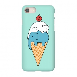 iPhone 7 SlimFit Animals Ice Cream by Coffee Man (animals, cute, adorable, cat, cat lover, elephant, bird, kid, kids, children, ice cream, fun, funny, humor, food)
