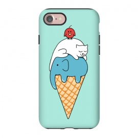 iPhone 8/7  Animals Ice Cream by Coffee Man (animals, cute, adorable, cat, cat lover, elephant, bird, kid, kids, children, ice cream, fun, funny, humor, food)