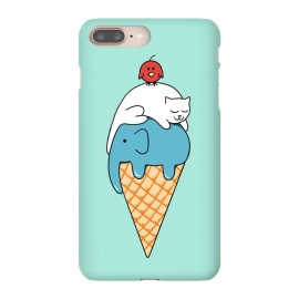iPhone 8/7 plus  Animals Ice Cream by Coffee Man (animals, cute, adorable, cat, cat lover, elephant, bird, kid, kids, children, ice cream, fun, funny, humor, food)