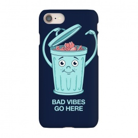 iPhone 7 SlimFit Bad Vibes Go Here by Coffee Man (bad vibes, vibes, trash, fun, funny, negative, positive, quote, phrase, hippie, cute,adorable, humor, music)