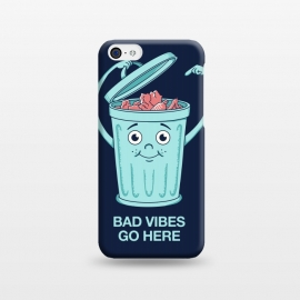 iPhone 5C  Bad Vibes Go Here by Coffee Man
