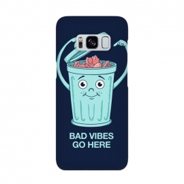 Bad Vibes Go Here by Coffee Man (bad vibes, vibes, trash, fun, funny, negative, positive, quote, phrase, hippie, cute,adorable, humor, music)