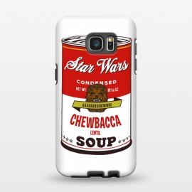 Galaxy S7 EDGE  Star Wars Campbells Soup Chewbacca by Alisterny
