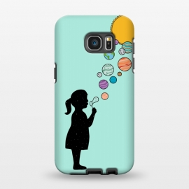 Galaxy S7 EDGE  Planets bubbles by Coffee Man