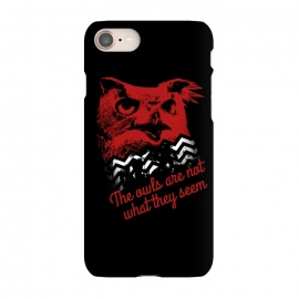 iPhone 7 SlimFit Twin Peaks The Owls Are Not What They Seem by Alisterny (twin-peaks, twinpeaks, davidlynch, david-lynch, lynch, twinpeaks2017, dale-cooper, dalecooper, owl, owls, the-owls-are-not-what-they-seem, black-lodge, blacklodge, theowlsarenotwhattheyseem,mashup, mashups, funny, popculture, funnytshirt, funnyshirt, tshirt, parody, nerd, geek, geeky, humor, humour,)