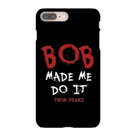 Twin Peaks Bob Made Me Do It by Alisterny (twin-peaks, twinpeaks, tv-series, markfrost, mark-frost, firewalkwithme, davidlynch, david-lynch, lynch, laurapalmer, murder, crime, detective, laura-palmer, twinpeaks2017, showtime, bob,mashup, mashups, funny, popculture, funnytshirt, funnyshirt, tshirt, parody, nerd, geek, geeky, humor, humour, fa)