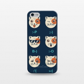 iPhone 5/5E/5s  Cat Emoticon by Coffee Man