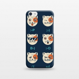 iPhone 5C  Cat Emoticon by Coffee Man