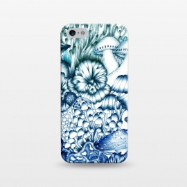 iPhone 5/5E/5s  A Medley of Mushrooms in Blue by ECMazur