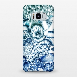 Galaxy S8+  A Medley of Mushrooms in Blue by Elizabeth Mazur