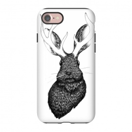 iPhone 8/7  The Jackalope by ECMazur  (jackalope,bunny,hare,antlers,fantasy,whimsical,magical,fable,folklore,animal,wildlife)