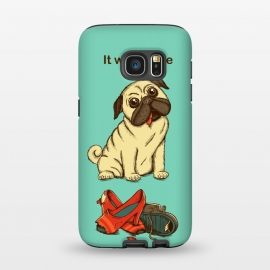 Galaxy S7  Dog And Shoes by Coffee Man