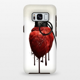 Galaxy S8+  Heart Grenade by Nicklas Gustafsson (heart,grenade,love,war,peace,hate,blood,drips,symbolic)