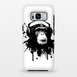 Galaxy S8+  Monkey Business by Nicklas Gustafsson (monkey,chimp,ape,chimpanzee,animal,butterflies,butterfly,music,headphones,spatter,graffiti)
