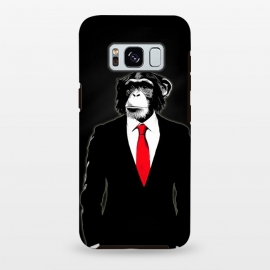 Galaxy S8+  Domesticated Monkey by Nicklas Gustafsson (monkey,ape,chimp,chimpanzee,suit,tie,red,office,man,modern,worker,funny,cool,animal)