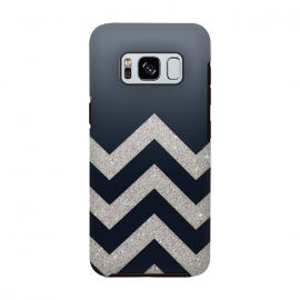 Chevron Block Silver Grey by Monika Strigel ()