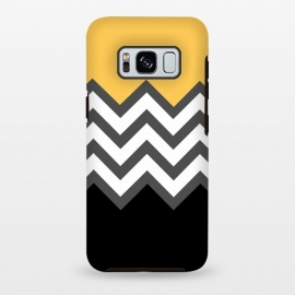 Galaxy S8+  Color Blocked Chevron Black Yellow by Josie Steinfort  ()
