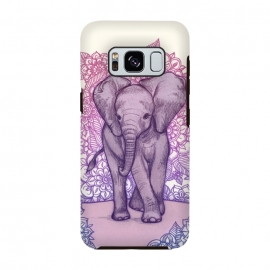 Cute Baby Elephant in pink purple and blue by Micklyn Le Feuvre ()