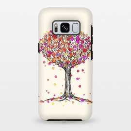 Galaxy S8 plus  Love in the Fall Heart Tree Illustration by