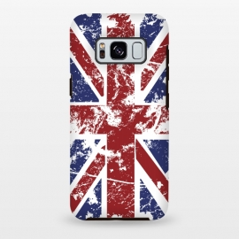 Galaxy S8 plus  Grunge UK Flag  by  (Grunge,UK,United,Kingdom,Flag,Colors,Nation,National,Great,Britan)