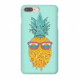 iPhone 8/7 plus  Pineapple Summer Blue by Coffee Man (pineaaple, summer,hot,melted,ocean, sea,beach,vacation,spring break,sun, sun glasses,marine,vintage,cool)