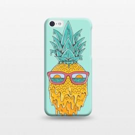 iPhone 5C  Pineapple Summer Blue by Coffee Man (pineaaple, summer,hot,melted,ocean, sea,beach,vacation,spring break,sun, sun glasses,marine,vintage,cool)