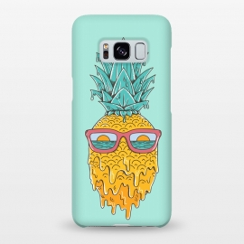 Galaxy S8+  Pineapple Summer Blue by Coffee Man (pineaaple, summer,hot,melted,ocean, sea,beach,vacation,spring break,sun, sun glasses,marine,vintage,cool)