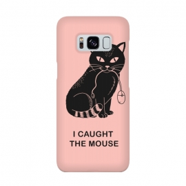 I caugth the mouse rose by Coffee Man (cat, cats, mouse, geek, nerd, fun,funny,humor, cute, adorable, pet pet lover, black cat, rose, pink, computer)