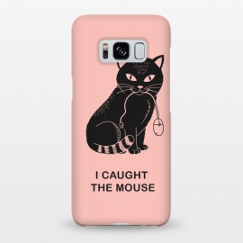 Galaxy S8+  I caugth the mouse rose by Coffee Man (cat, cats, mouse, geek, nerd, fun,funny,humor, cute, adorable, pet pet lover, black cat, rose, pink, computer)