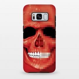 Galaxy S8 plus  Red Skull by  (Pixel,8 bit,skull,sketeton,bones,red)