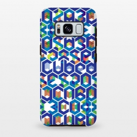 Galaxy S8+  Cubed Balance by Sitchko Igor (Balance,Cubed,Cube,Space,Geometry,Colorful,Digital,Symetry,Line,Symetrical,Chaos,Blue,System,Geometrical,Worlds,Letters,Characters,Symbols,Type,Print)