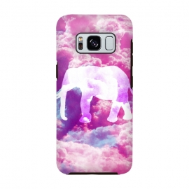 Elephant on Pink Purple Clouds by Girly Trend ()
