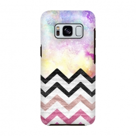 SC Watercolor Nebula Space Pink ombre Wood Chevron by Girly Trend ()