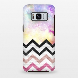 SC Watercolor Nebula Space Pink ombre Wood Chevron by Girly Trend