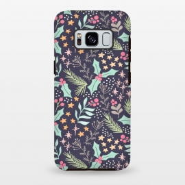 Galaxy S8+  Merry by Dunia Nalu (floral,star,stars,nature,pattern,christmas,holidays,women)