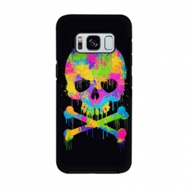Galaxy S8  Grafitti Watercolor Skull by Philipp Rietz
