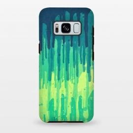Galaxy S8 plus  Green Grunge Color Splatter Graffiti Backstreet Wall by  ()