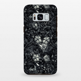 Galaxy S8+  Floral Pattern IX by Riza Peker (Botanical,Flowers,Blackandwhite,art,artist,design,RizaPeker)
