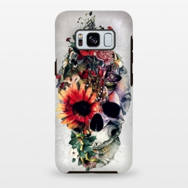 Galaxy S8+  Two Face Skull by Riza Peker (Skull,Flowers,animals,snake,tattoo,art,rizapeker)